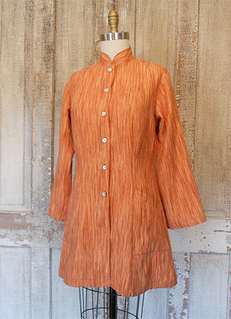 Hourglass Tunic, Rust